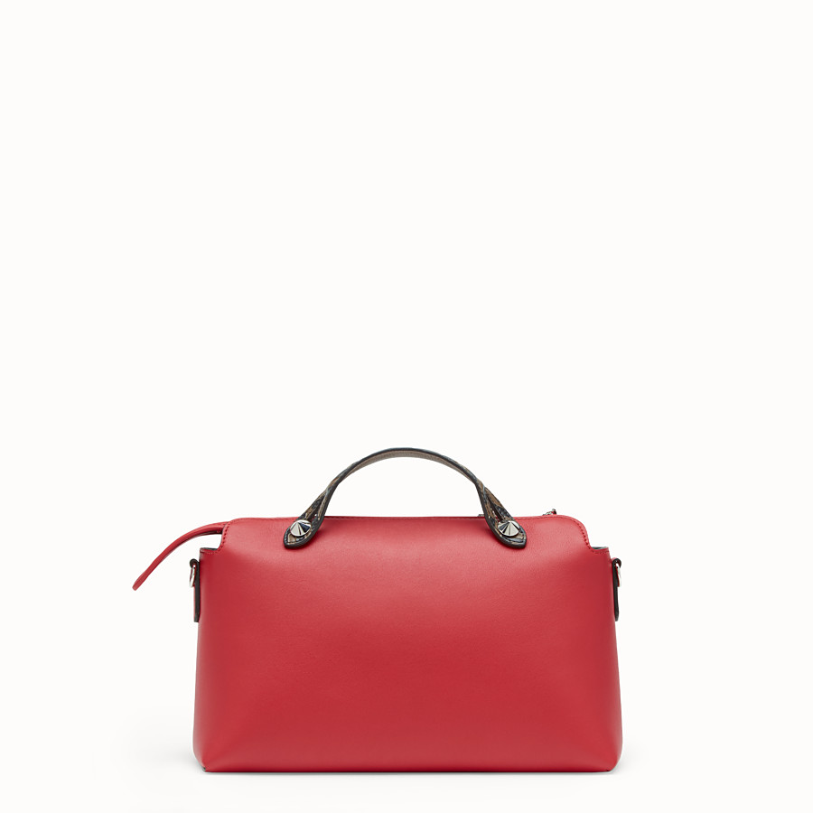 FENDI BY THE WAY REGULAR - Red leather Boston bag - view 3 detail