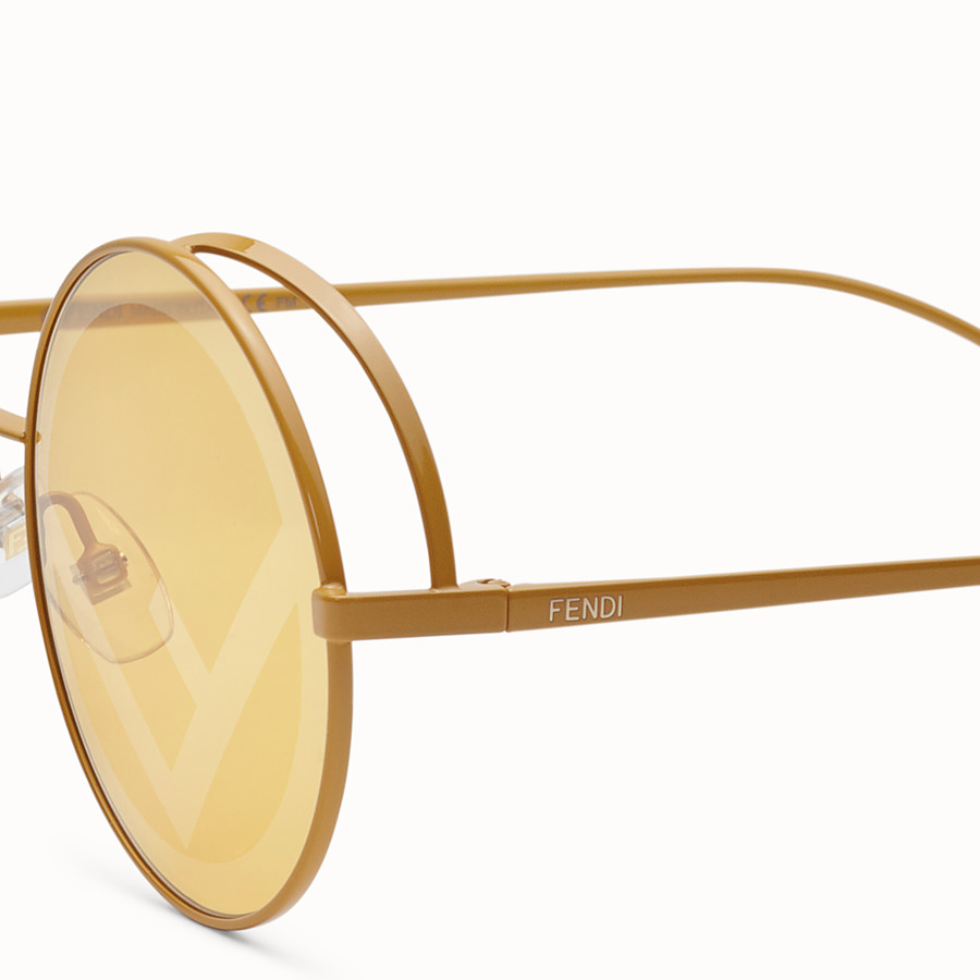FENDI FENDIRAMA - Yellow sunglasses - view 3 detail