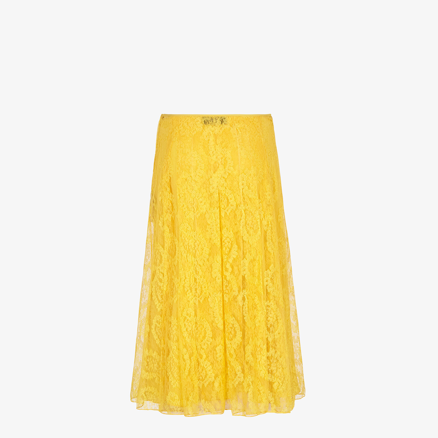 FENDI SKIRT - Yellow lace skirt - view 2 detail