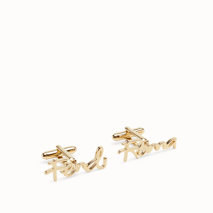 FENDI CUFFLINKS - Gold colour cufflinks - view 1 detail
