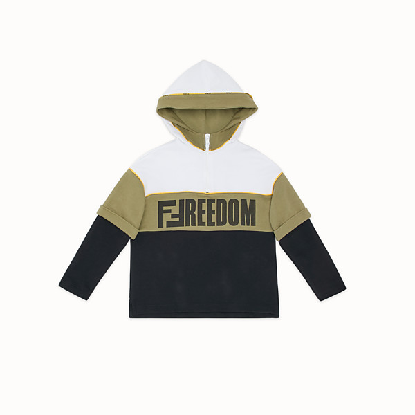 FENDI DOUBLE EFFECT SWEATSHIRT - Multicolour cotton sweatshirt - view 1 small thumbnail