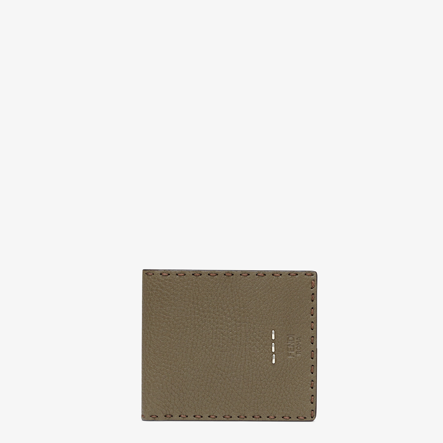 FENDI WALLET - Green leather bi-fold wallet - view 1 detail