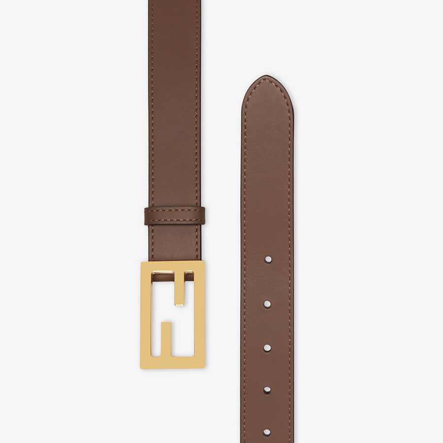 FENDI CINTURA - Cintura in pelle marrone - vista 2 dettaglio