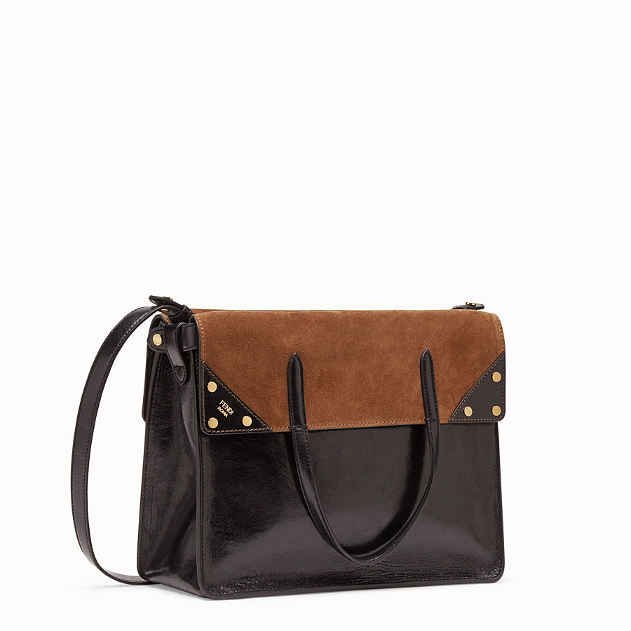 FENDI FENDI FLIP LARGE - Black leather bag - view 4 detail