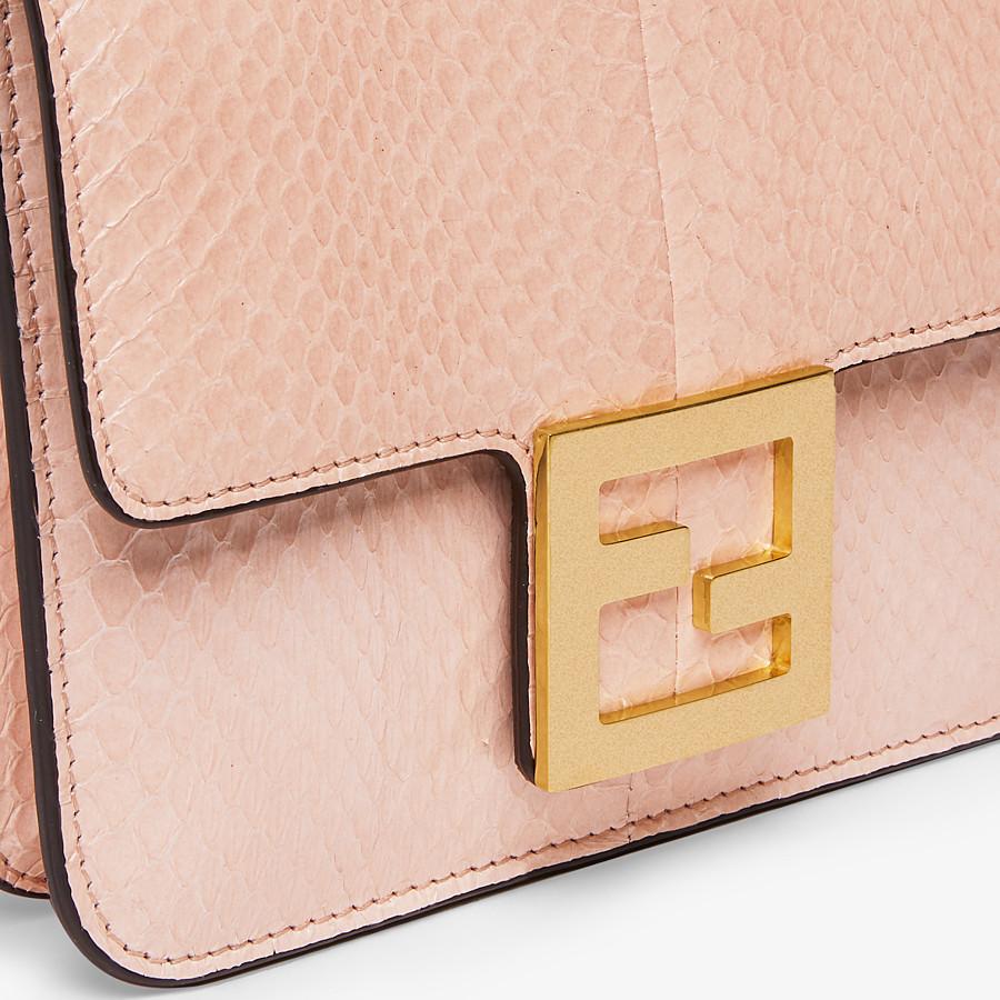 FENDI FENDI FAB - Pink elaphe bag - view 5 detail