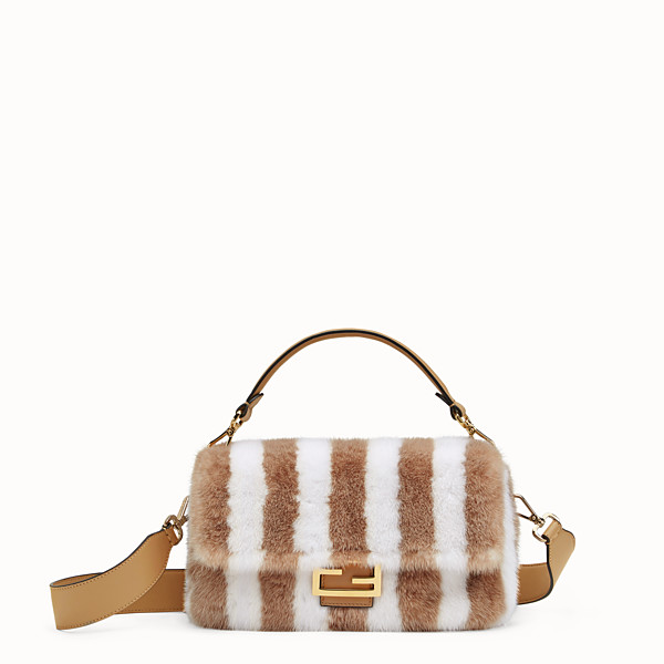 FENDI BAGUETTE - White mink bag - view 1 small thumbnail