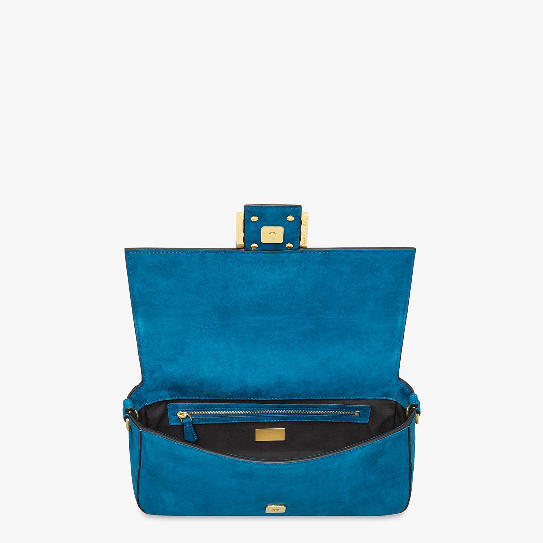 FENDI BAGUETTE - Blue suede bag - view 4 detail