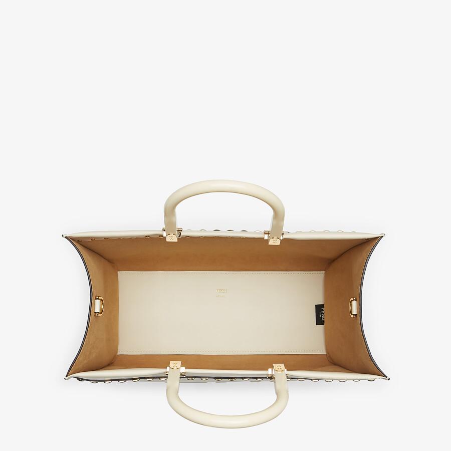 FENDI FENDI SUNSHINE MEDIUM - White leather shopper - view 5 detail