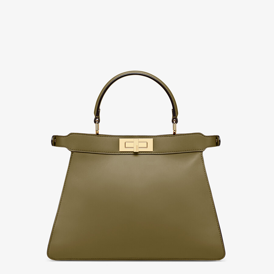FENDI PEEKABOO ISEEU MEDIUM - Green leather bag - view 6 detail
