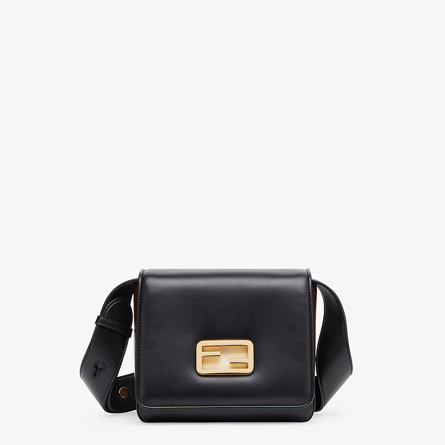 FENDI FENDI ID SMALL - Black leather bag - view 1 detail