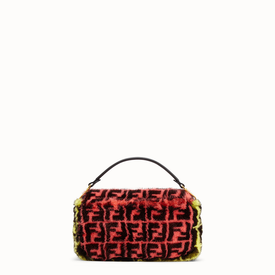 FENDI BAGUETTE - Multicolour mink bag - view 3 detail