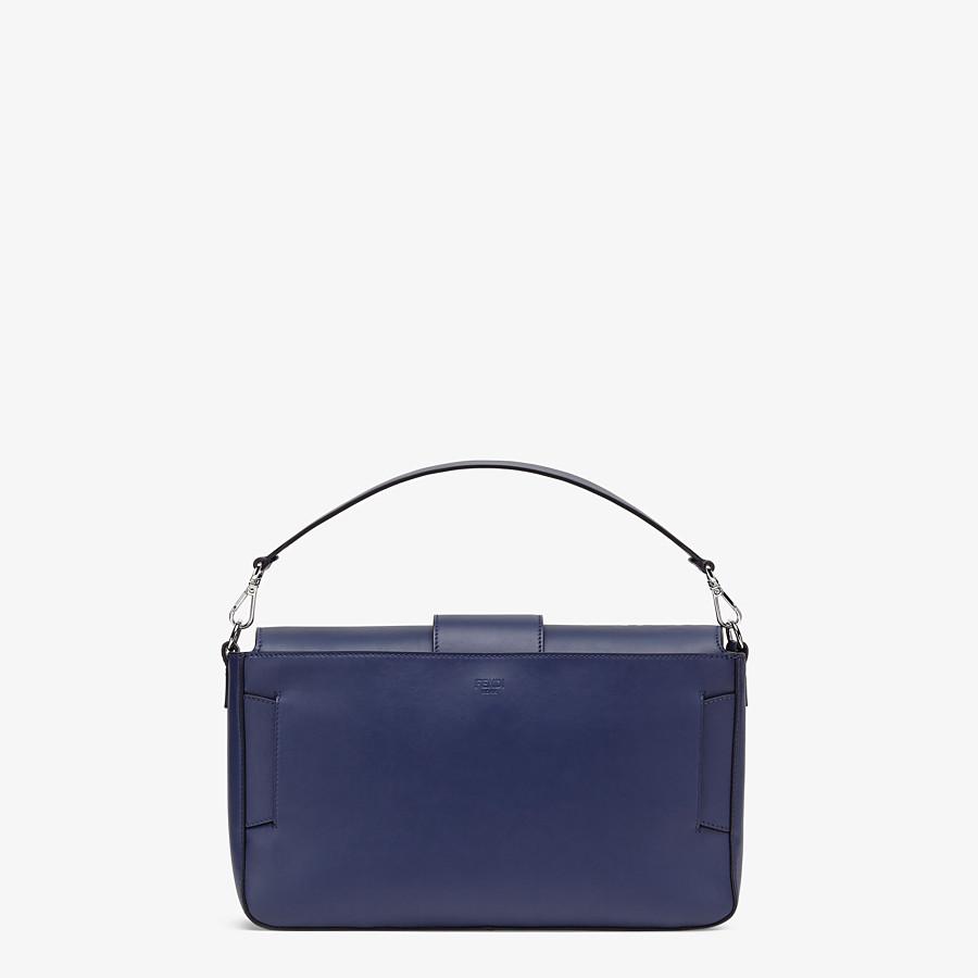 FENDI BAGUETTE LARGE - Blue calfskin bag - view 4 detail