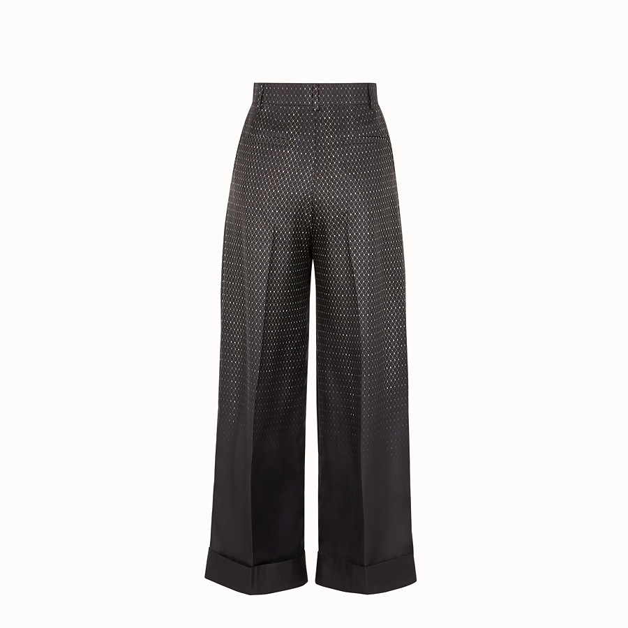 FENDI TROUSERS - Trousers in black twill - view 2 detail