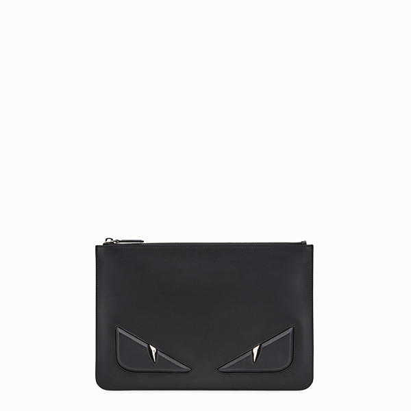 FENDI POUCH - Black leather pouch - view 1 small thumbnail