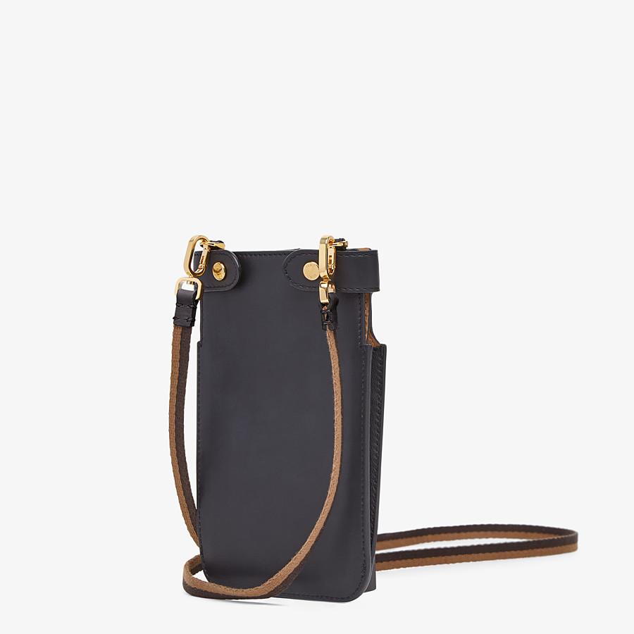 FENDI PEEK-A-PHONE - Black leather pouch - view 2 detail