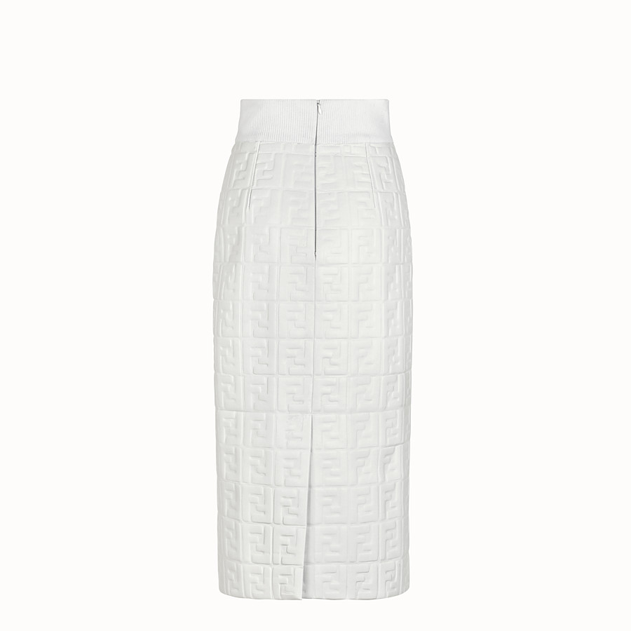 FENDI SKIRT - White nappa leather skirt - view 2 detail
