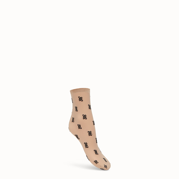 FENDI SOCKS - Nude nylon socks - view 1 small thumbnail
