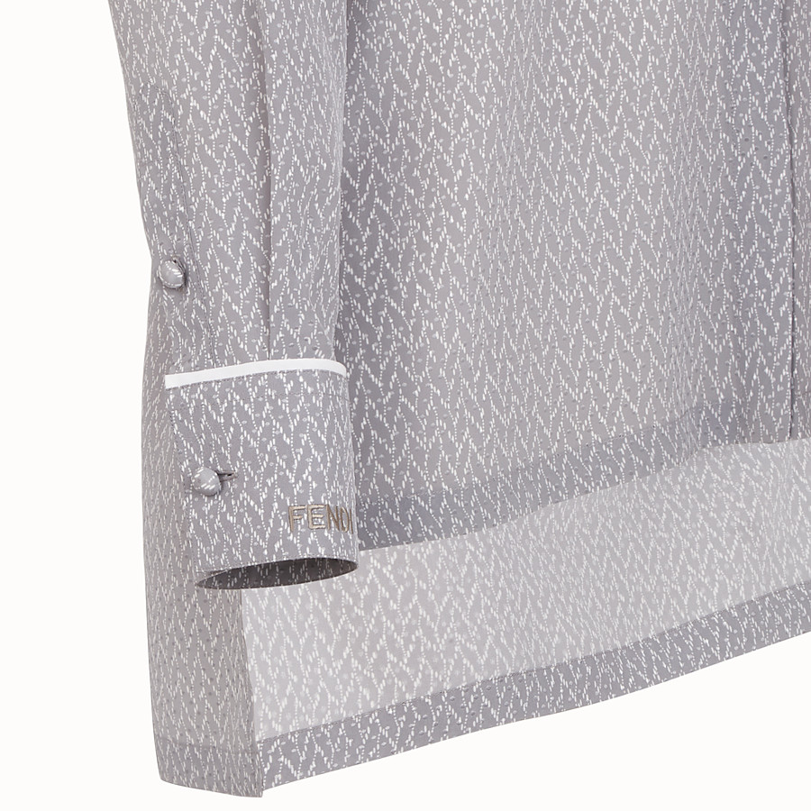 FENDI SHIRT - Grey crêpe de Chine shirt - view 3 detail