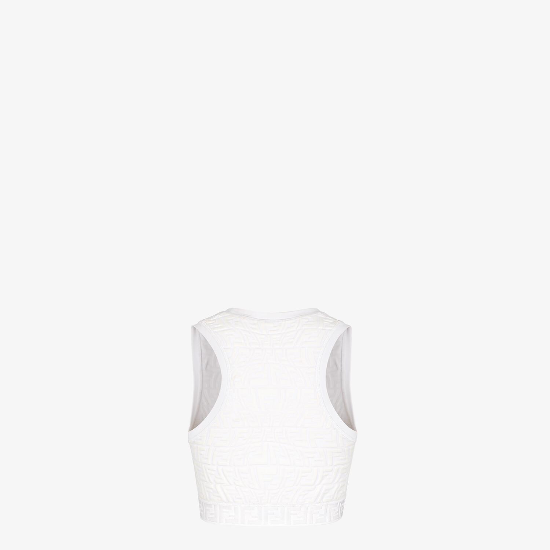 FENDI TOP - White tech fabric top - view 2 detail