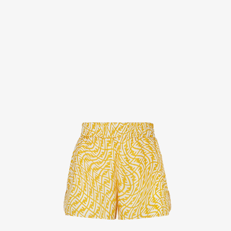 FENDI BERMUDAS - Yellow silk trousers - view 1 detail