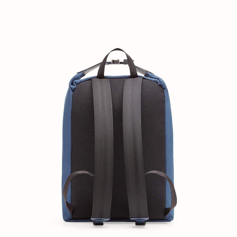 FENDI BACKPACK - Blue canvas backpack - view 3 detail