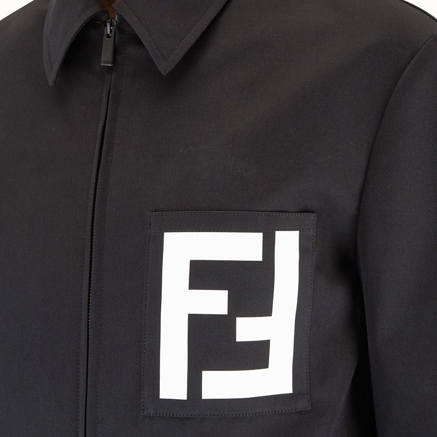 FENDI 外套 - 黑色高密度棉斜布外套 - view 3 detail