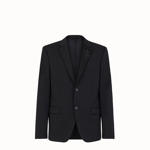 FENDI JACKET - Black jersey blazer - view 1 small thumbnail