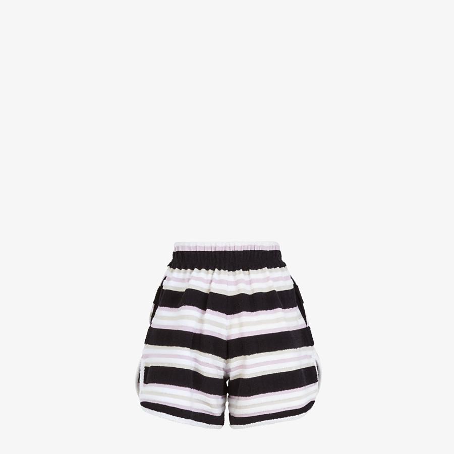 FENDI SHORTS - Multicolour cotton shorts - view 2 detail