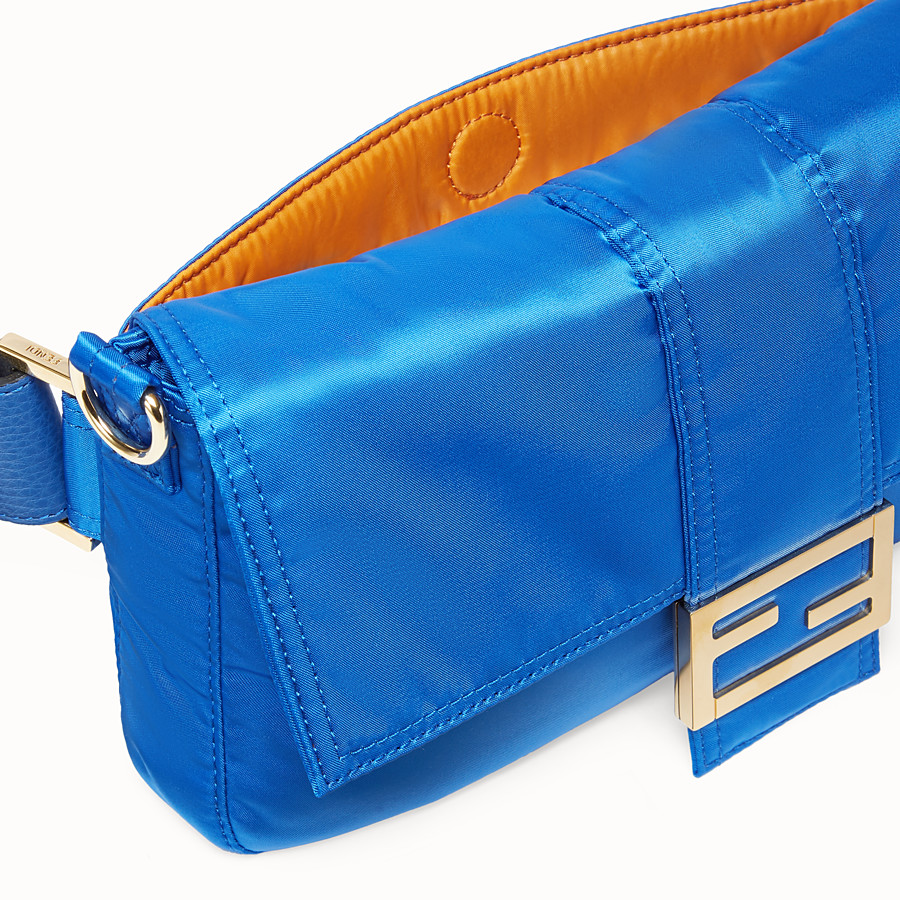FENDI BAGUETTE FENDI AND PORTER - Blue nylon bag - view 5 detail