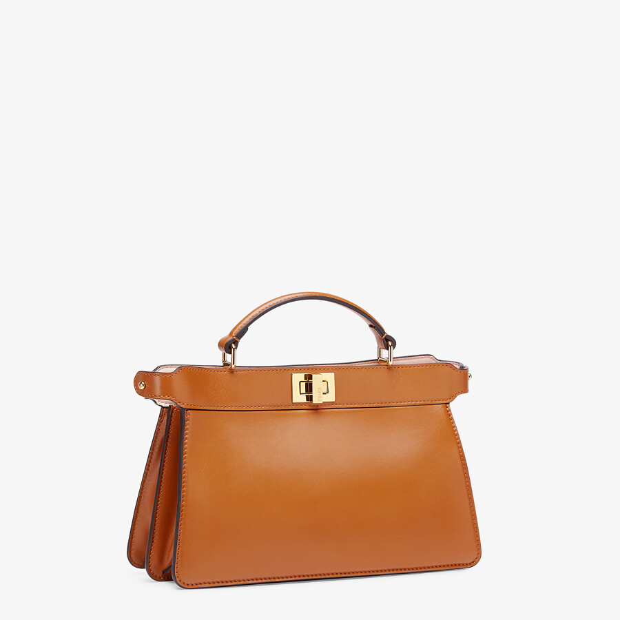 FENDI PEEKABOO ISEEU EAST-WEST - Brown leather bag - view 2 detail