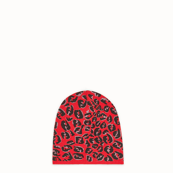 FENDI HAT - Red wool hat - view 1 small thumbnail