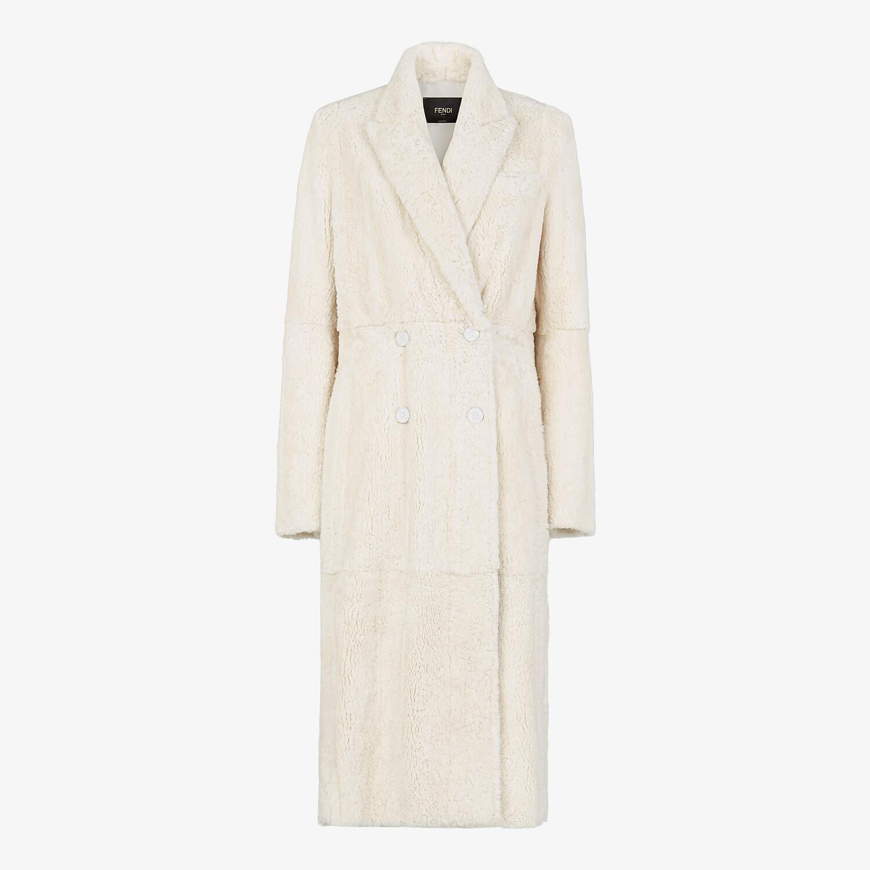 FENDI COAT - White mink coat - view 1 detail