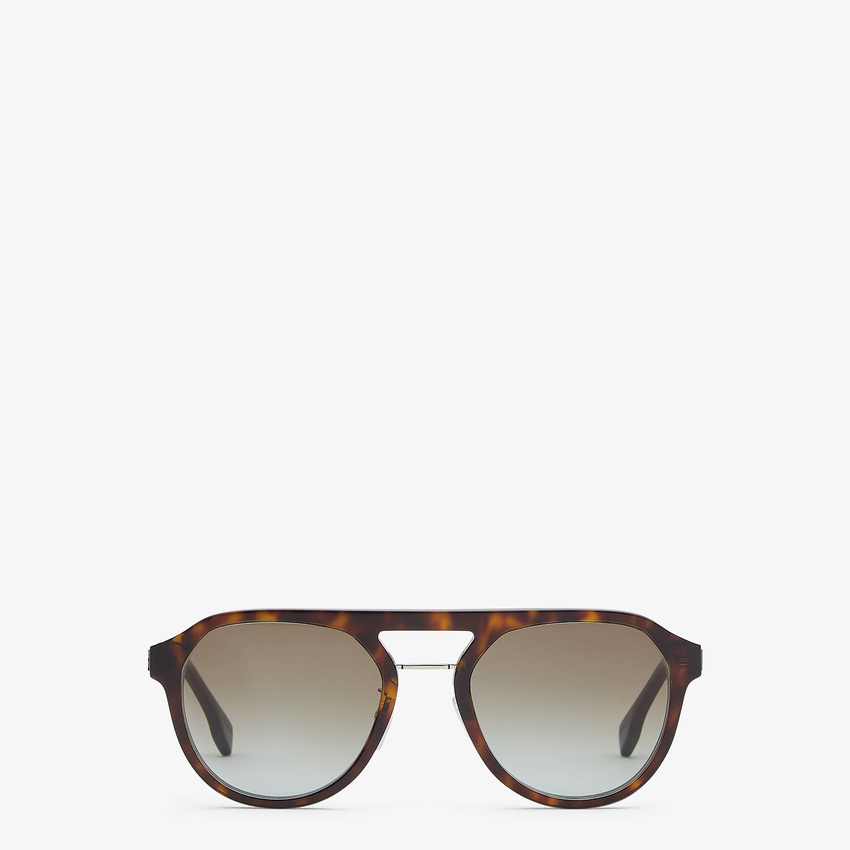 FENDI FENDI DIAGONAL - Havana sunglasses - view 1 detail