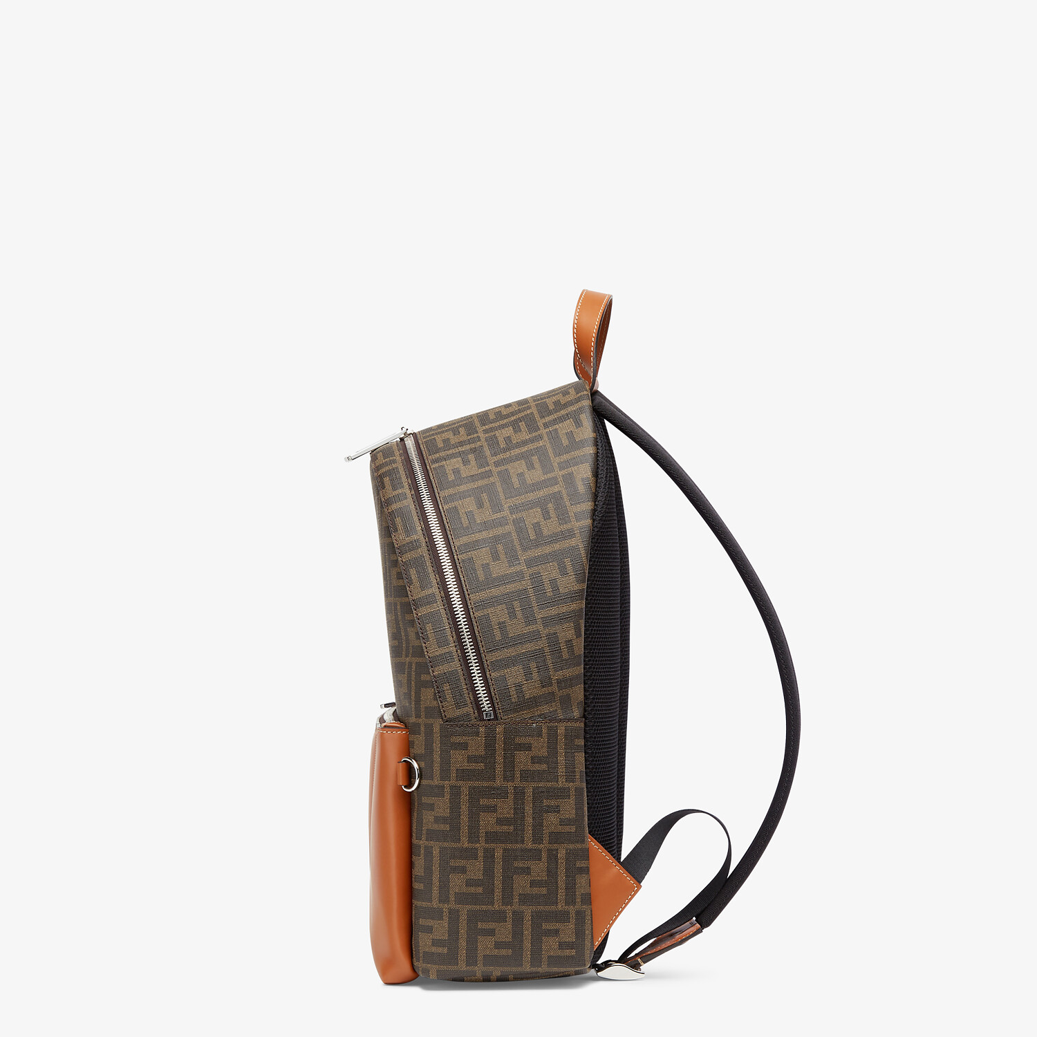 FENDI BACKPACK - Brown fabric backpack - view 2 detail