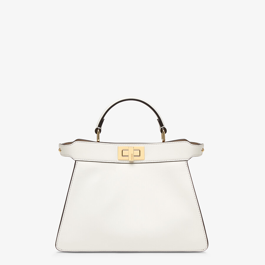 FENDI PEEKABOO ISEEU SMALL - White leather bag - view 1 detail