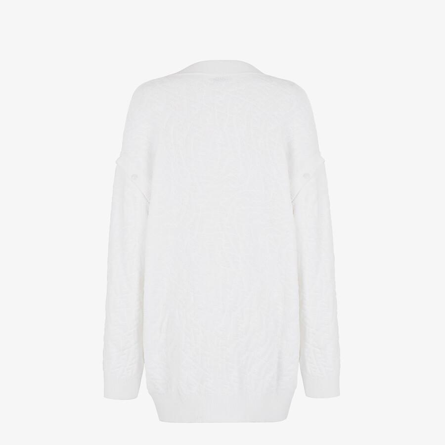 FENDI CARDIGAN - White cotton cardigan - view 2 detail