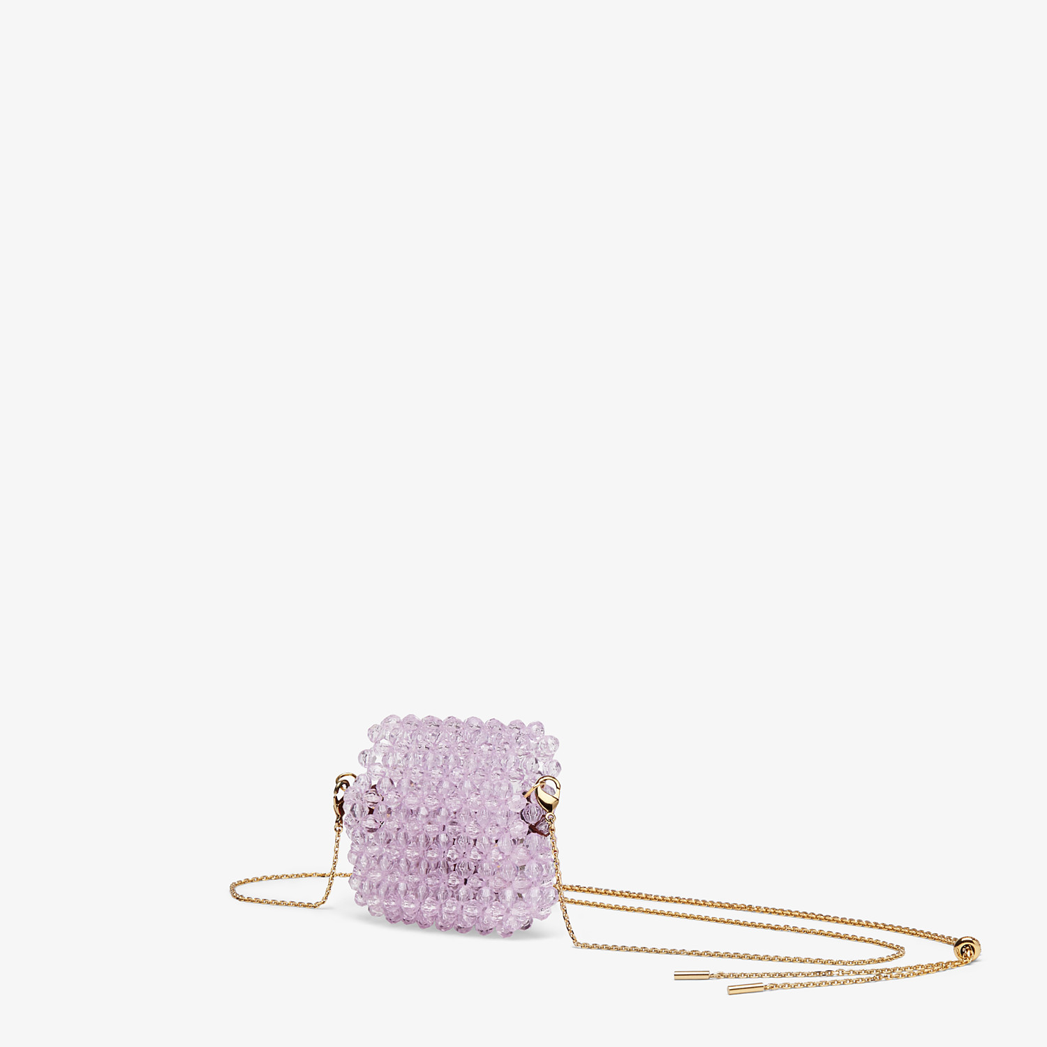 FENDI HEADPHONE HOLDER - Charm with lilac beads - view 2 detail
