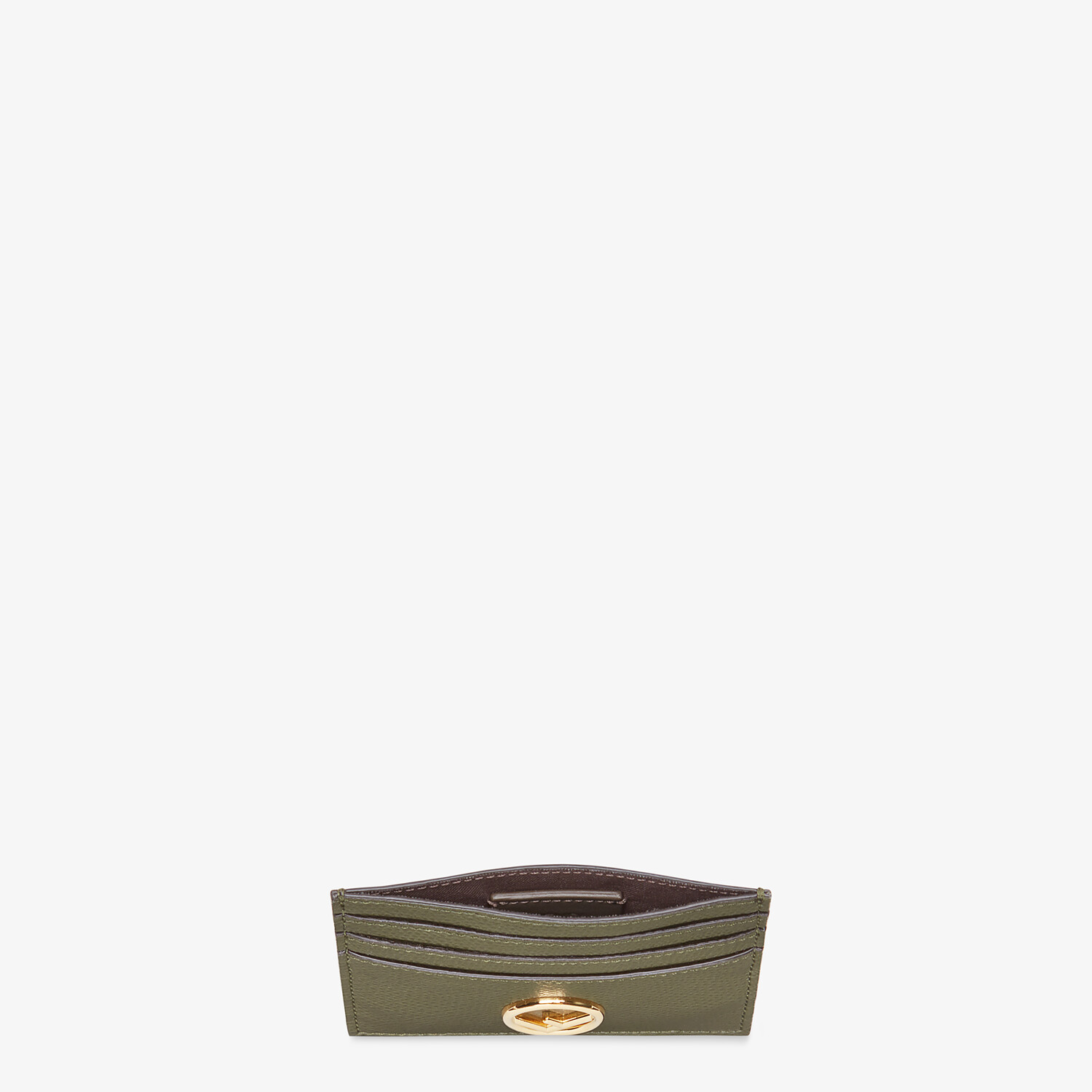 FENDI CARD CASE - Green leather flat card holder - view 3 detail