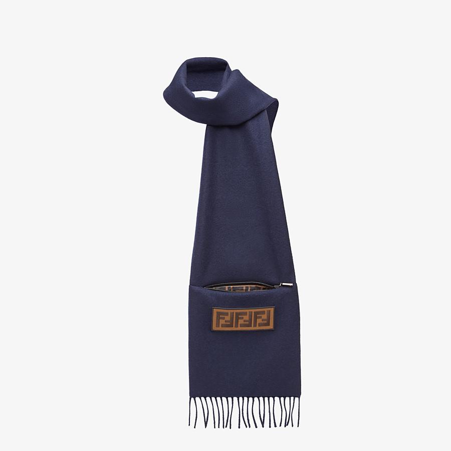 FENDI SCHAL - Schal aus Wolle in Blau - view 2 detail