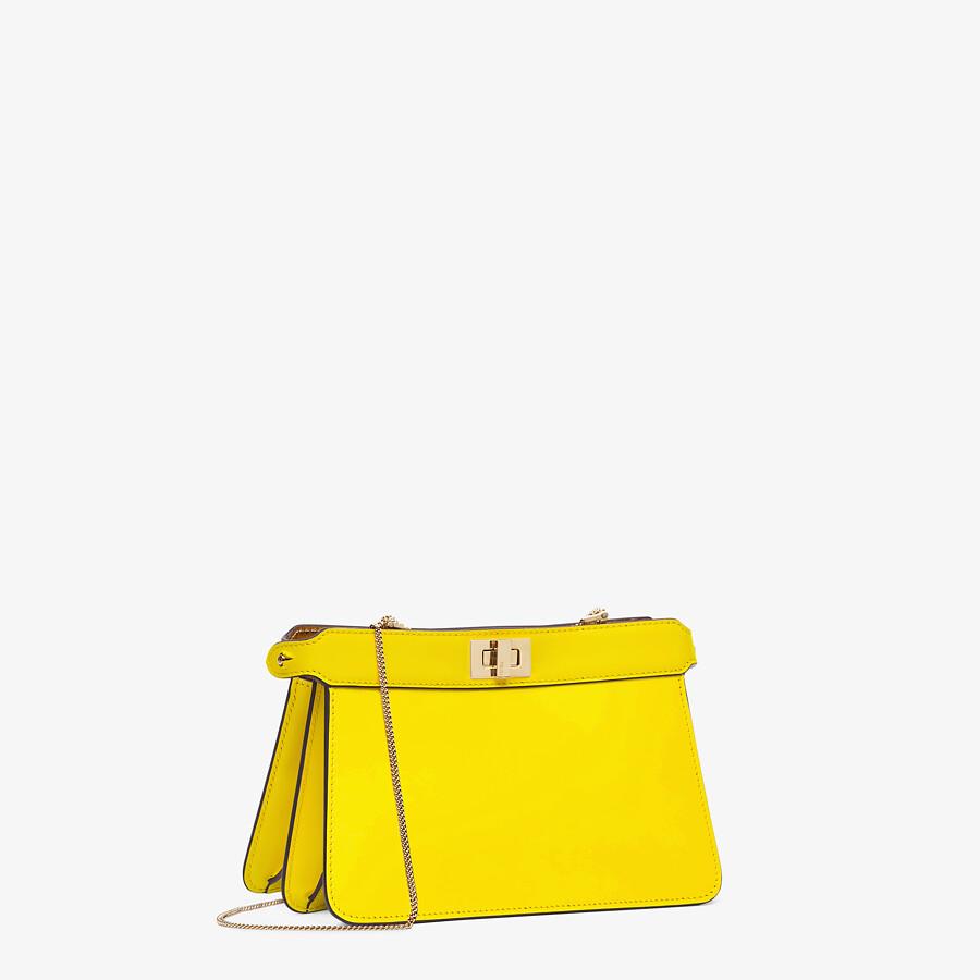 FENDI PEEKABOO I SEE U POCHETTE - Yellow nappa leather bag - view 2 detail