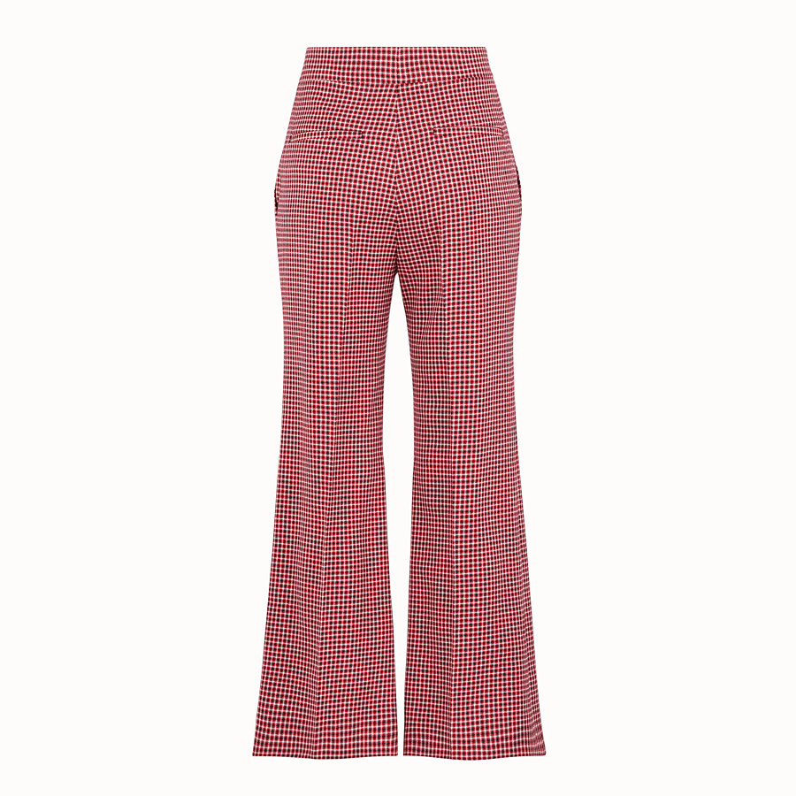 FENDI PANTALON - Pantalon en laine rouge - view 2 detail