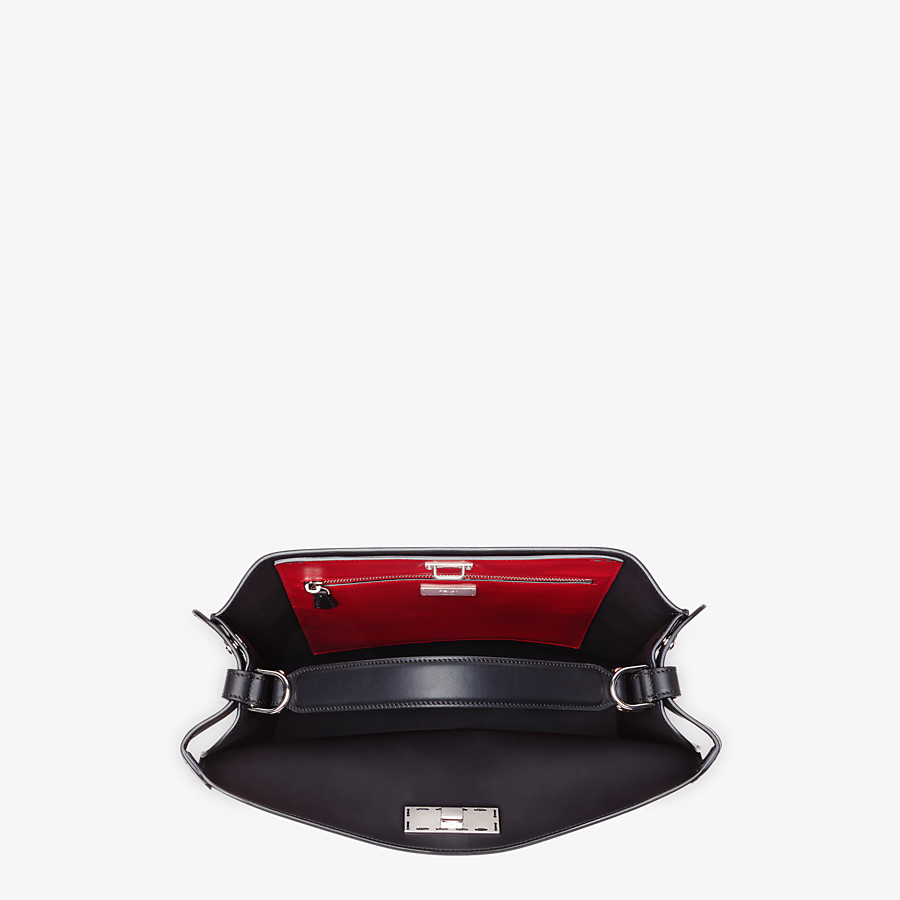 FENDI PEEKABOO X-LITE FIT - Black calfskin bag - view 5 detail