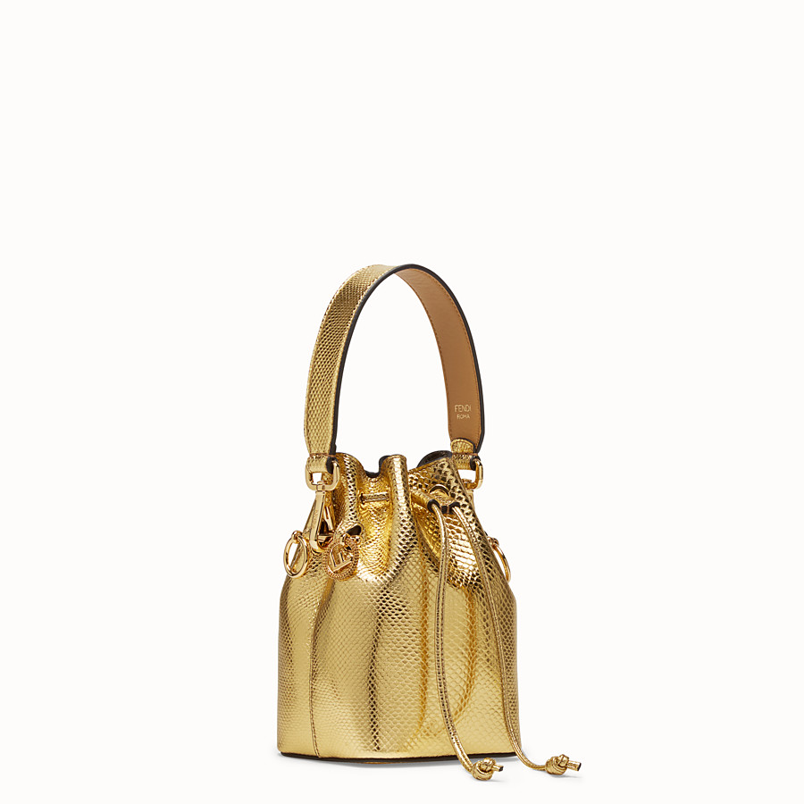 FENDI MON TRESOR - Gold coloured karung mini-bag - view 2 detail