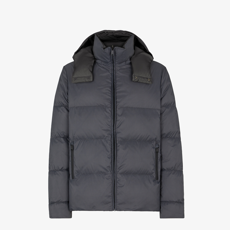 FENDI DOWN JACKET - Gray nylon down jacket - view 2 detail