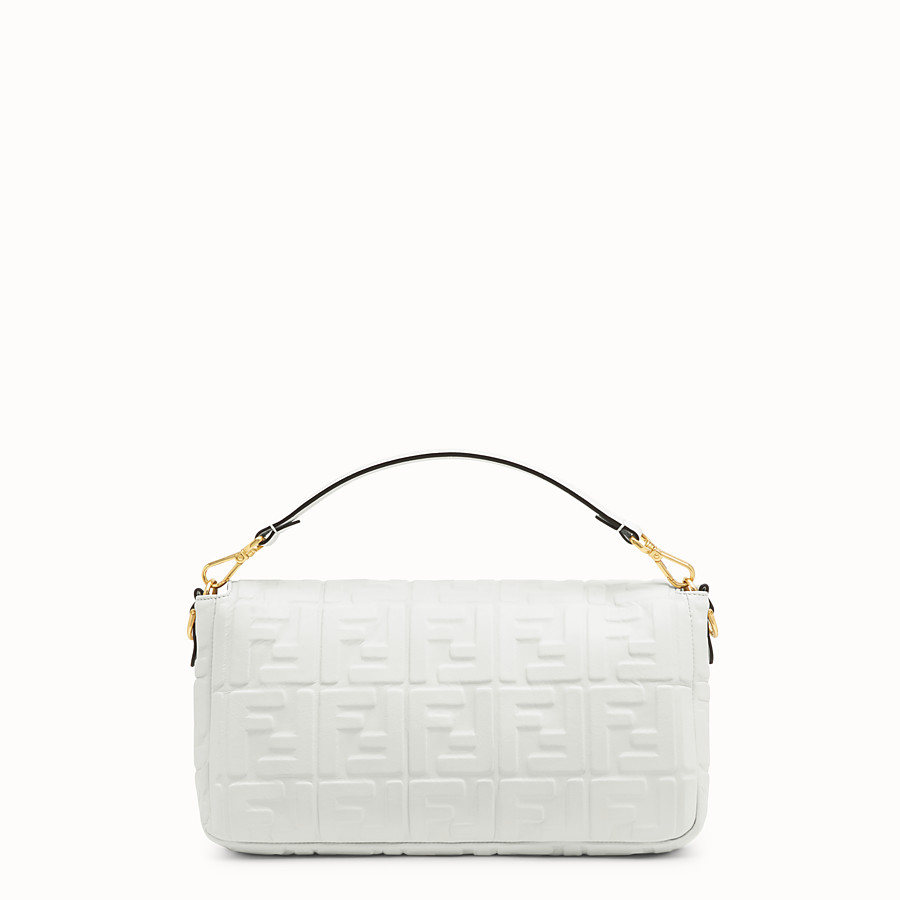 FENDI BAGUETTE LARGE - Sac en cuir blanc - view 3 detail