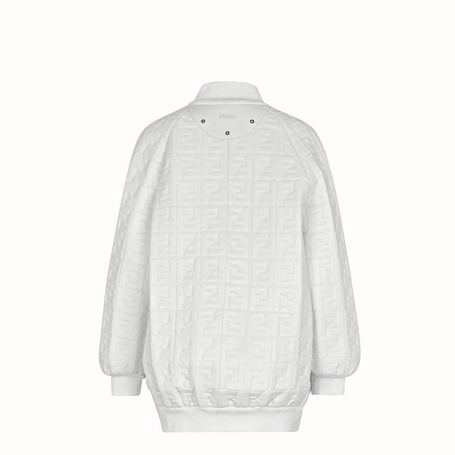 FENDI BOMBER - White nappa leather bomber. - view 2 detail