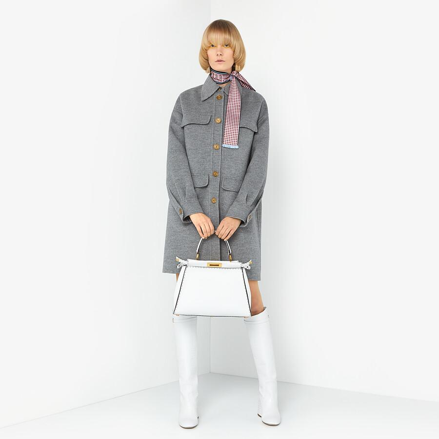 FENDI PEEKABOO ICONIC MEDIUM - White Cuoio Romano leather bag - view 2 detail