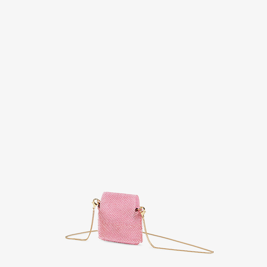 FENDI PICO BAGUETTE CHARM - Charm with pink beads - view 2 detail