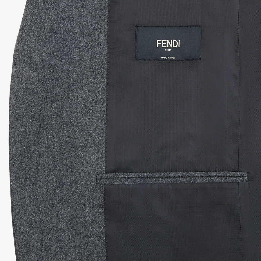 FENDI JACKET - Gray wool blazer - view 5 detail
