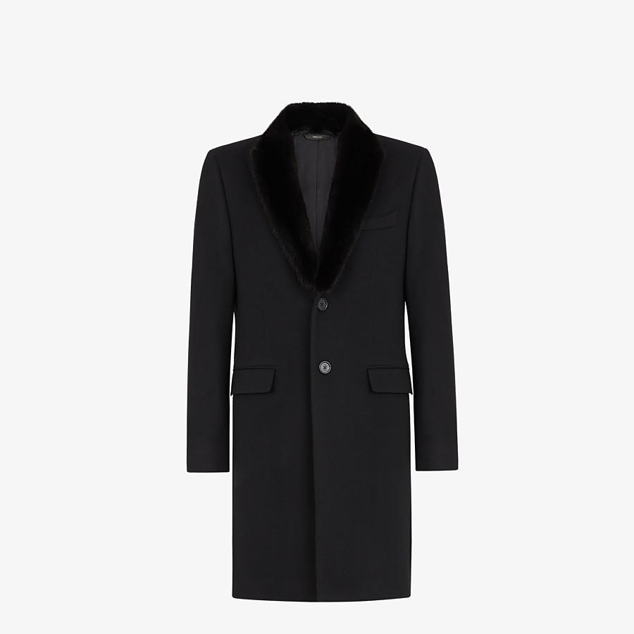 FENDI COAT - Black cashmere coat - view 1 detail